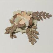 Fustellati fiore foglie misshobby.com doniebombiniere feltro assemblaggio fommy composizione