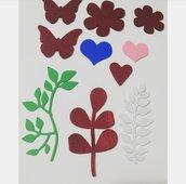 Fustellati foglie fiori cuori misshobby.com doniebombiniere farfalle