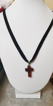 Croce diaspro rosso