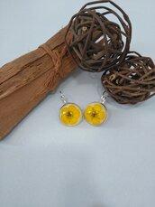 Orecchini fiori veri ranuncolo giallo orecchini fatti a mano pendenti donna fiori orecchini mini