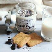 snack for santa candela in cera di soia latte e biscotti GRANDE