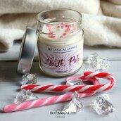 NORTH POLE candela in cera di soia candy cane GRANDE