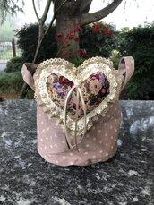 Cestino sacchetto con cuore