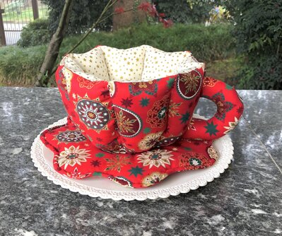 Natale - tazza in stoffa