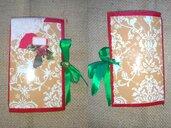 Idea regalo per Natale, diario di Natale, taccuino, diario fatto a mano, Christmas Junk Journal, Agenda, Midori
