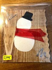 Biglietto Natale con Pupazzo di Neve