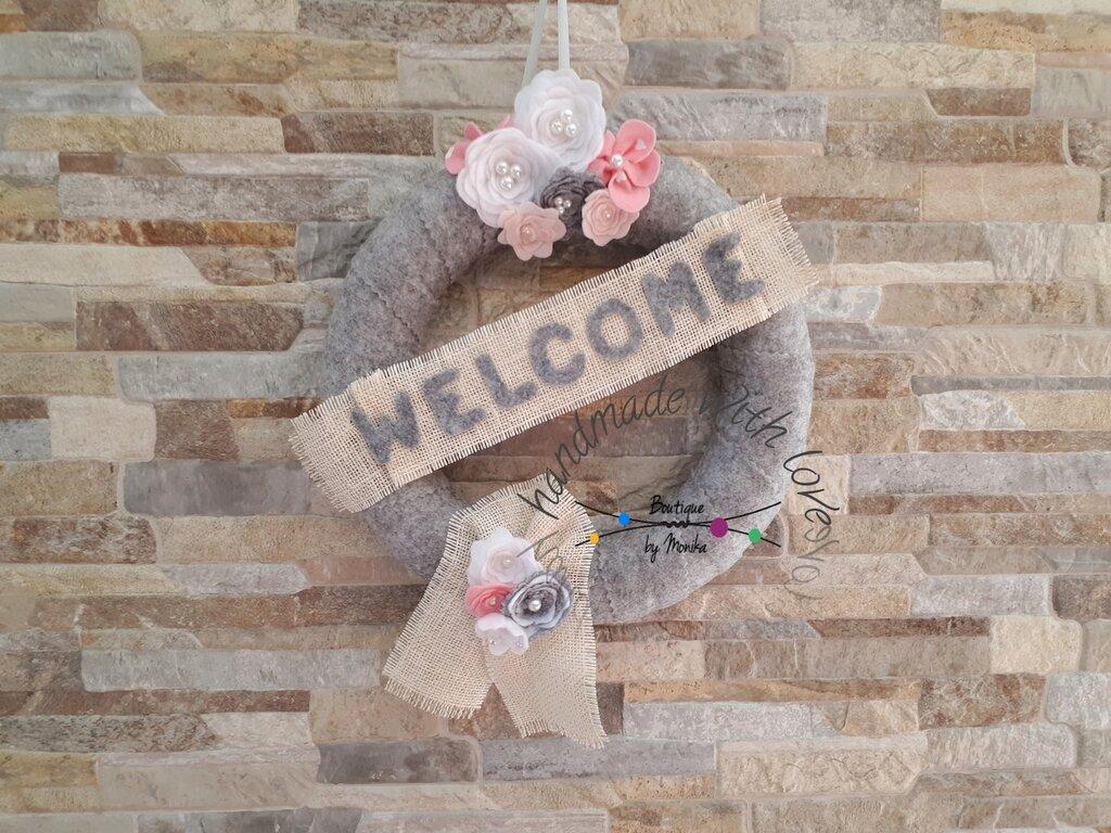 Ghirlanda fuoriporta di benvenuti welcome
