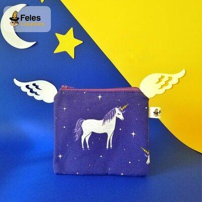 "Portamonete ""Unicorni tra le stelle"""