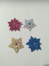 Magneti/calamite natalizie glitterate