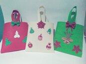 Borsetta natalizia in feltro decorata con gomma eva