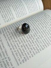 Anello fiori soffione anello fatto a mano anello resina tarassaco monili fiori veri gioielli donna