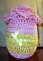 Uovo di Pasqua all'uncinetto