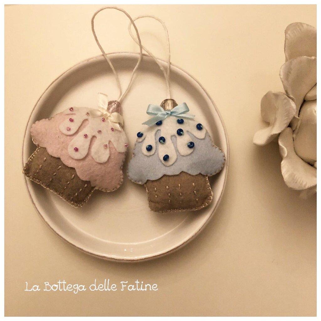 Decorazioni cupcake in feltro