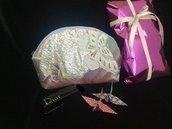 Borsetta Cosmetici Beauty Pochette fatta mano Seta100%  Giapponese /regalo natale