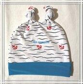 Berretto jersey bimbo marinaio con orecchie a nodi