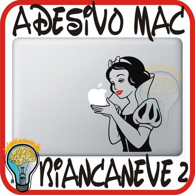 ADESIVO PER MAC BIANCANEVE 2 - APPLE MELA MACBOOK 13 15 17 PRO DECAL STICKER