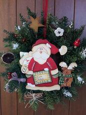 Ghirlanda natalizia Babbo Natale