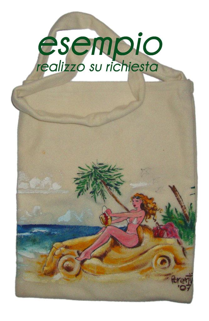 decorazione su stoffa - donna - borse - di parentiartdesign-shop ... - Decorazioni Su Stoffa