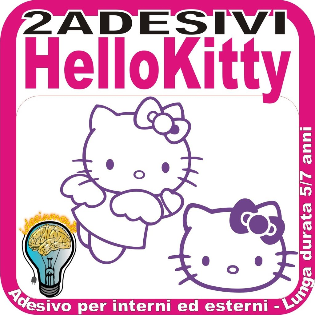 ADESIVO ADESIVI HELLO KITTY - DECAL MURALE SMART CASCO