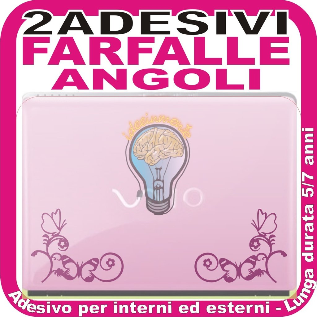 FARFALLE DECORATIVE ANGOLARI - ADESIVO LAPTOP PORTATILE DECAL