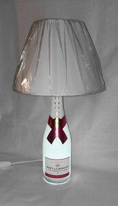 Lampada artigianale da bottiglia vuota Champagne Moet & Chandon Ice Imperial Rosè idea regalo