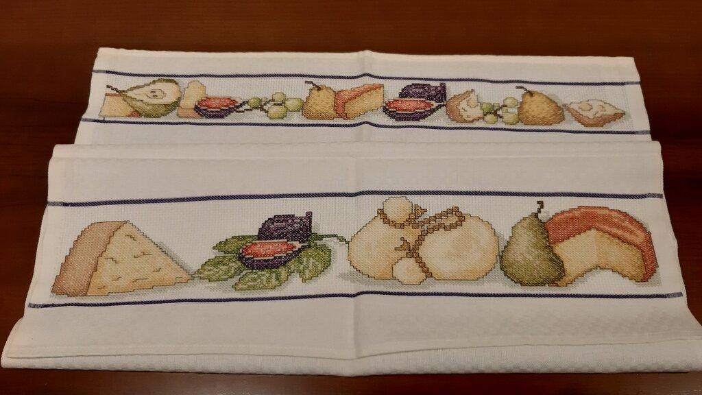Asciughino cucina / Tovaglietta Formaggi e Frutta