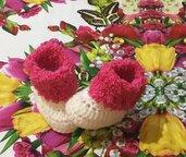 Stivaletti scarpette scarpine crochet 🧶 neonato bebè
