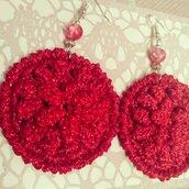 Orecchini fiore 3D rosso