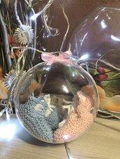 Pallina di Natale con scarpine neonato/a 0 - 3 mesi