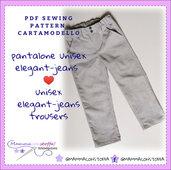 cartamodello pantalone bambino/bambina versione jeans o elegante