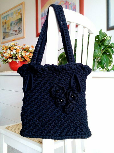 Borsa tracolla fettuccia crochet misshobby.com moda borse online