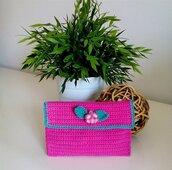 Pochette rosa donna crochet misshobby.com porta trucco moda borse online
