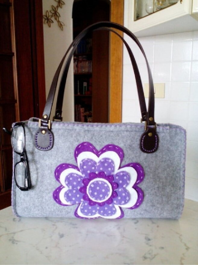 Borsa tracolla donna feltro moda misshobby.com moda borse online ragazza regalo natale