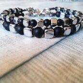 Bracciali black & silver