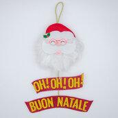 Fuoriporta Babbo Natale,  30 x 19 cm, una stella GRATIS