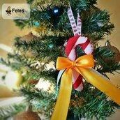 Decoro di Natale Candyno Natalyno - decoro kawaii per albero, chiavi e borsa a forma di bastoncino di zucchero