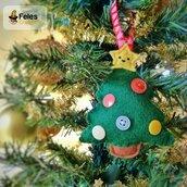 Decoro di Natale Alberyno Natalyno - decoro kawaii per albero, chiavi e borsa a forma di albero di Natale