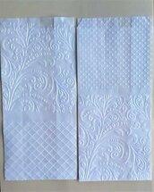 10 sacchetti in carta pergamina decorati cm 10 x 20 +5