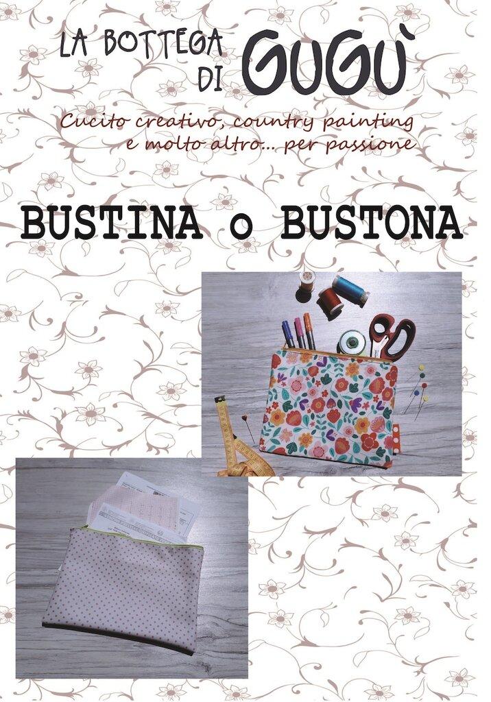 DIY - Cartamodello per realizzare una BUSTINA o una BUSTONA (in PDF)