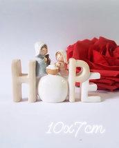 Stampo in silicone Natività con scritta Hope
