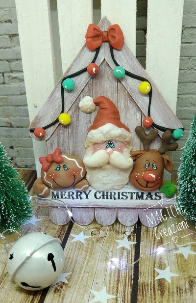 Casetta decorazione natalizia