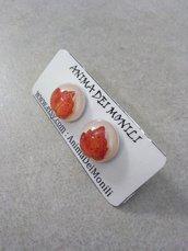 Orecchini lobo orecchini edera orecchini fatti a mano orecchini resina orecchini bottone