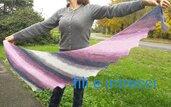 Sciarpa di lana fatta a maglia modello a coda di drago