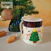 """Copritazza di Natale """"Alberyno Natalyno"""" - decoro di Natale kawaii per per tazza"""