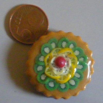 calamita da frigo: miniatura torta alla frutta