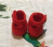 Scarpette scarpine crochet neonato bebè Natale