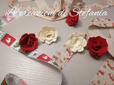 lotto di 20 rose in feltro