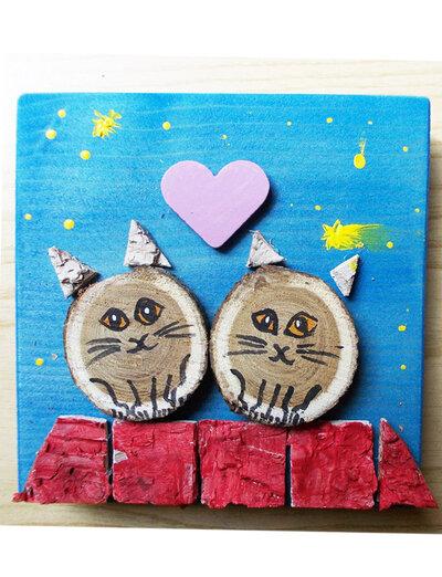 quadretto coppia gattini