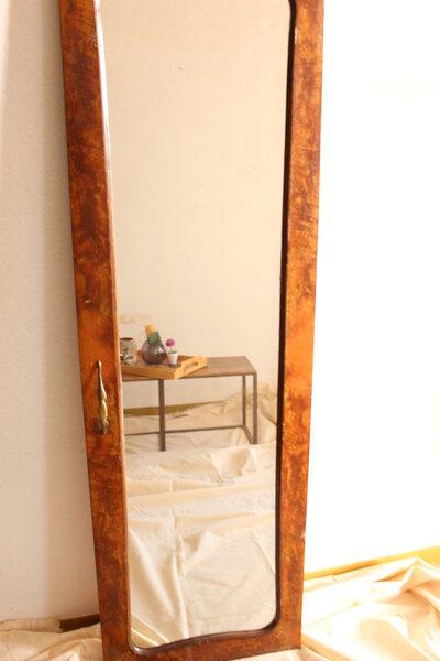 Specchiera vintage in legno