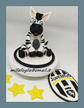 Decorazione/Cake Topper di zucchero Zebra-Juventus